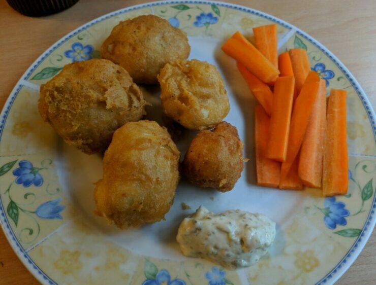 Beignets de chou-fleur et sauce tartare