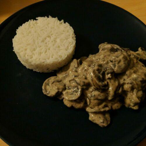 Sauté de champignons à la crème